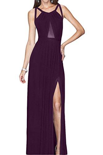 Stile Rueckenfrei kraftool Chiffon Ivydressing donna dell'abito Bete vestito da sera festa Uva