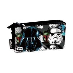 Star Wars Estuche portatodo triple 3 cremalleras escolar