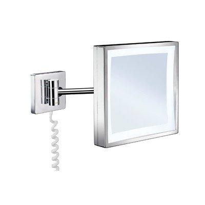 Rasierspiegel / Kosmetikspiegel / Spiegel mit LED Beleuchtung / Schwenkbarer Spiegel / FK472 / Outline / Smedbo
