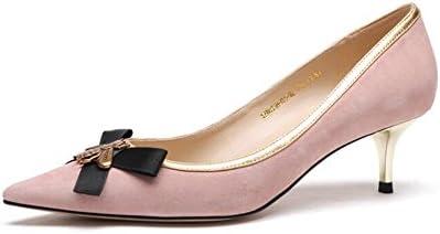 YIXINY Zapatos de tacón Exquisito Zapatos De Mujer Tacón Fino Bowknot Social Banquete Talón 5cm Azul Pavo Real...