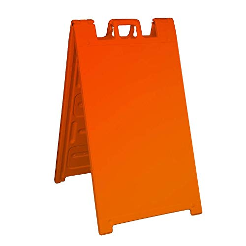 Signicade Portable Sign Stand - outdoor Sidewalk Sign Stand, Color=Orange by Plasticade