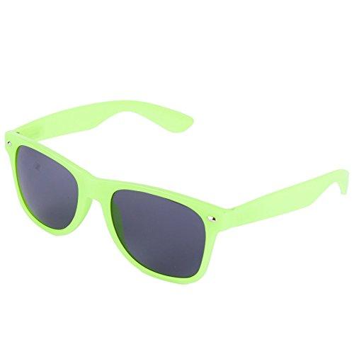 Hornbrille 50er Jahre Stil Sonnenbrille (Neongrün)