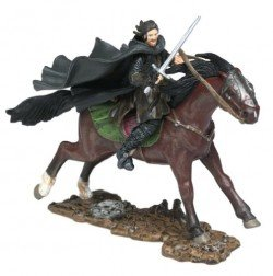 2003 - New Line / Paly Along - Lord of the Rings : Armies of Middle Earth - Aragorn on Horseback - Warriors & Battle Beasts - Battle Scale Figures - Out of Production - Limited Edition - Collectible