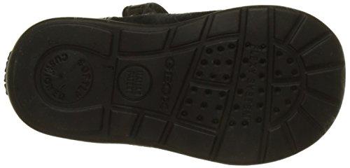 Geox B Kaytan A, Chaussures Marche Bébé Fille Noir (Black/beige)
