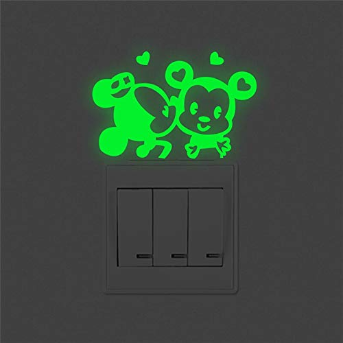 n Maus Leucht Schalter Aufkleber Kinder Zimmer Dekor Glow In The Dark Wand Aufkleber Fluoreszierende Vinyl Wandbild Kunst ()