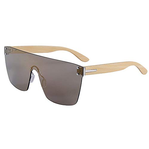 Asdflina occhiali da sole polarizzati unisex occhiali da sole in bambù per occhiali da sole con lenti colorate stile un pezzo per uomo donna uv400 marca occhiali da sole firmati (colore : c4)