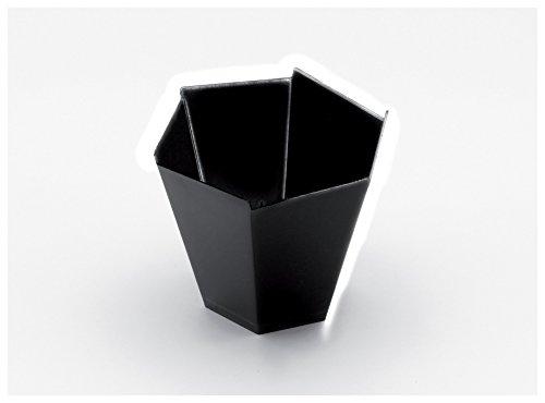 Gold Plast-COUPELLE Gardenia-25 par paquet 70x70 mm noir