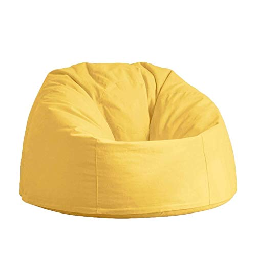 BBCFT Sitzsack Stühle Für Jugendliche Lazy Sofa Chair Stabile Komfortable Outdoor Lounge Für Die Freizeit (Color : Yellow, Size : 90cm)