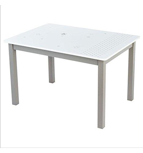 Atmosphera Table en Bois pour Enfant - Taupe et Blanche