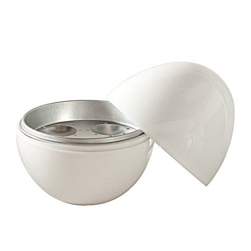 Eastlion Premium bianco a forma di uovo microonde uovo caldaia, per 4uova