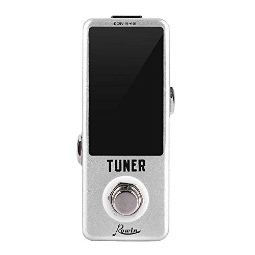 Vuffuw Guitar Tuner Pedal, LED Display High Precision Bass/Guitar Chromatic Tuner Pedal with True Bypass Switching, Pitch Calibration, Flat Tuning (The Power Adapter is Not Included) - Nc-flat