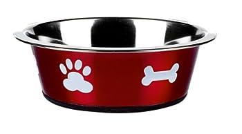 Classic Pet Products Gamelle classique Motif pattes Rouge 1600 ml