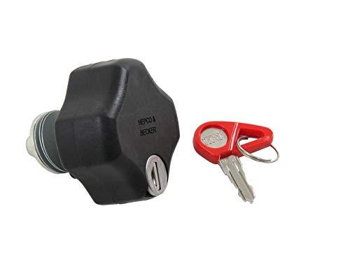 Hepco&Becker Lock-it Schraube abschließbar, inkl. Zylinder und Schlüssel für Hepco&Becker Lock-it Seitenkofferträger