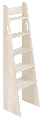 BioKinder 23805 Escalera de Mano Noah con Cama de Madera Maciza de Pino 140 cm Barnizado Blanco