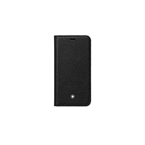 Montblanc Meisterstück Soft Grain Flipside Stand Up iPhone Apple XS Schwarz Taschenorganizer, 14 cm, Schwarz Soft-side Case