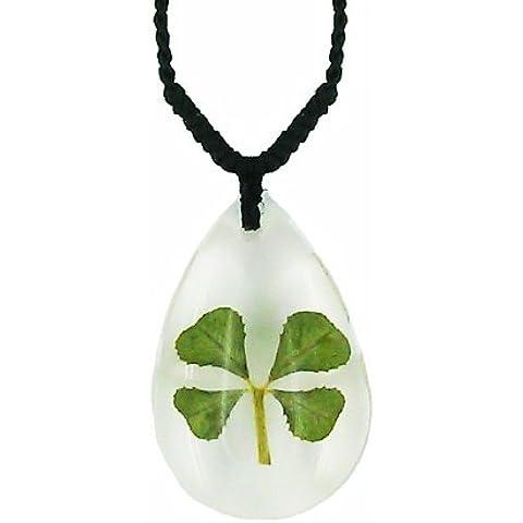 Celta Real Jewellery ättrige Trébol Transparente suerte collar con caja de regalo y garantía