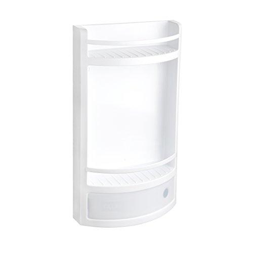 TATAY 4432101 - Mueble organizador de baño con dos repisas y cajón, Plástico Polipropileno blanco,29 x 11 x 51 cm