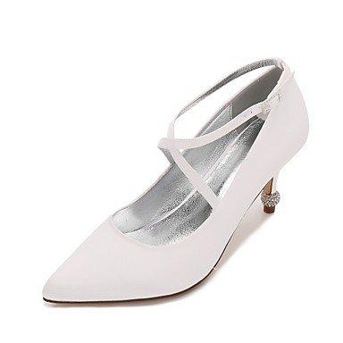 DESY Women's Wedding Shoes Comfort D'Orsay & Two-Piece Basic Pump Spring Summer Satin Wedding Dress Party & Evening Rhinestone Sparkling , ivory ,