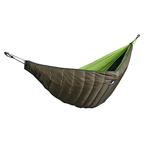 Lonlyfut Doppel Hängematte Underquilt, leichte Winter Camping unter Decke, warme Hängematte unter Quilt Isolierung Faltbare Full Length UnderBlanket