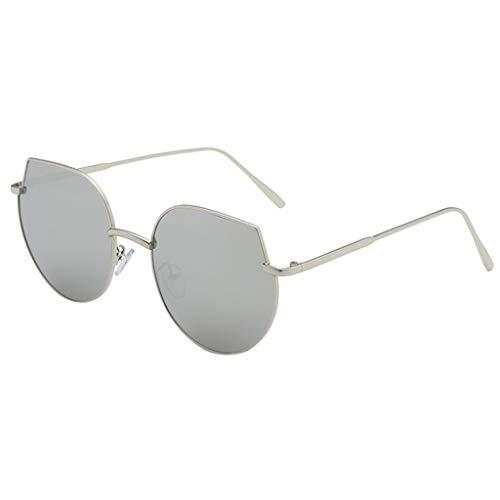 CANDLLY Brillen Damen, Kopfschmuck Zubehör Metall Sonnenbrille unregelmäßiger Form Im Freien Reisen Retro-Stil Trend Punk Wind Brille Mode Unisex Sonnenbrillen Spiegel Persönlichkeit Brillengestell
