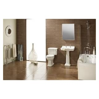 Dunbar Traditional 6 Piece Bathroom Set includes Taps & Toilet Seat