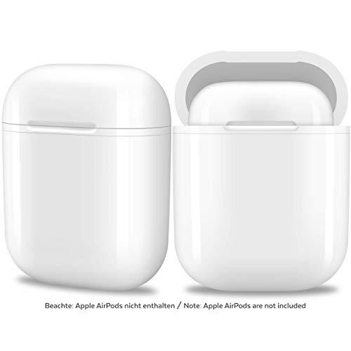 hardwrk Wireless Charging Case kompatibel mit Apple AirPods - weiß - ergänzende Qi Schutz-Hülle zum kabellosen Aufladen - für jedes Qi Power Charger Ladegerät Pad - AirPod EarPods Hardcase -