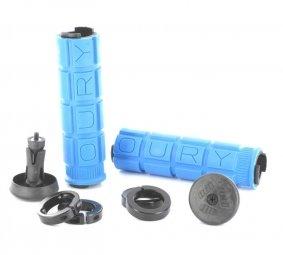Oury Grips - OUGRLOC - Lock on Grips - Paire de poignées de vélo - Mixte Adulte - Bleu - Taille Unique