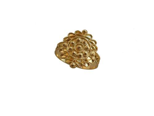 Fede sarda, oro giallo 18 kt.