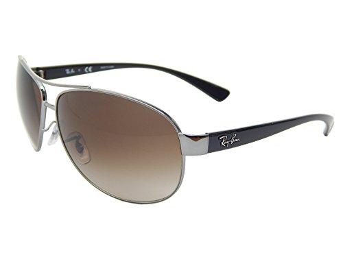 New Ray Ban RB3386 004/13 Gunmetal/ Brown Gradient 63mm Sunglasses