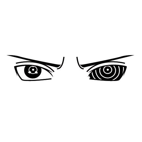 Preisvergleich Produktbild Wadeco Anime Manga Augen Wandtattoo Wandsticker Wandaufkleber 35 Farben verschiedene Größen, 73cm x 16cm, weiß