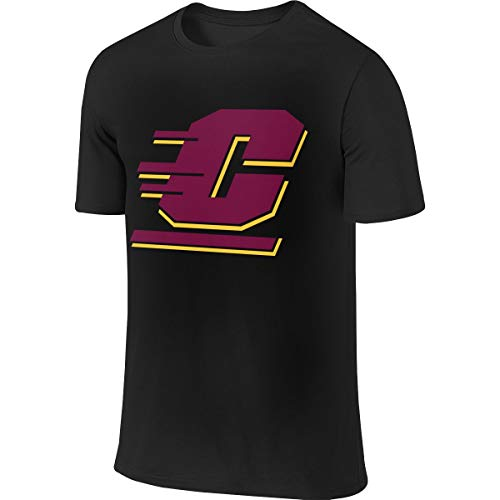 Central Michigan University Logo1 Herren Kurzarm T-Shirt Athletic Casual T-Shirts für Männer Stylish T-Shirt -
