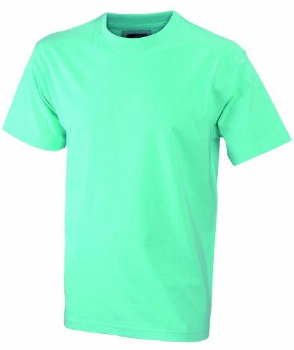 James & Nicholson Herren Komfort T-Shirt Rundhals Grün (Mint)