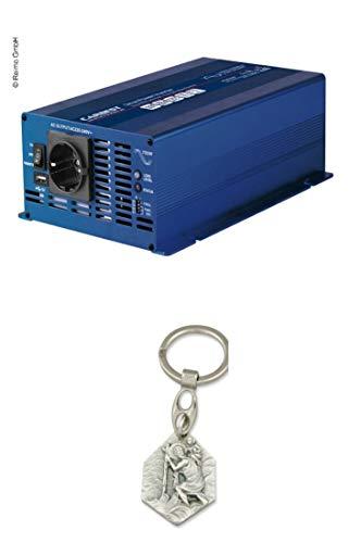 Zisa-Kombi Carbest Wechselrichter 12 Volt Sinus 700 Watt (93298882285) mit Anhänger Hlg. Christophorus -