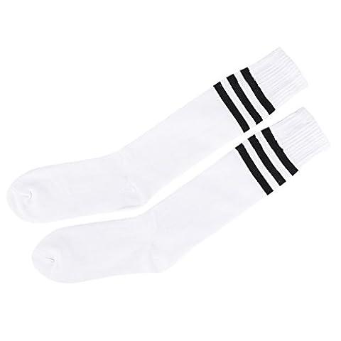 Alt Schule Knie hoch sportlich Sport Rohr Socke (Schwarz auf