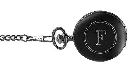 Visol Benson Black Matte Pocket Watch - Letter F