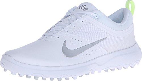 NIKE Damen Akamai Golfschuhe, Weiß (White/Metallic Silver/Pure Platinum), 38.5 EU