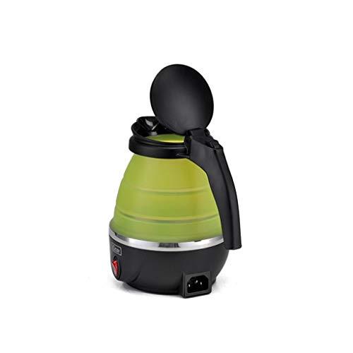 Wenhui Folding Wasserkocher Reise Wasserkocher Tragbarer Wasserkocher Kleine Mini Wasserkocher 800 ML Bonbonfarben (Farbe : Green)