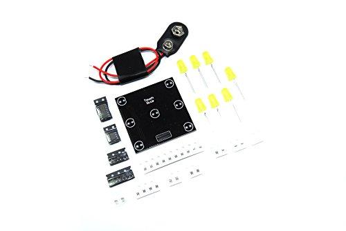 6-seitige Touch Würfel DIY SMD KIT 9V ausgelötet Sechs Electronic - Würfel Pfund 2