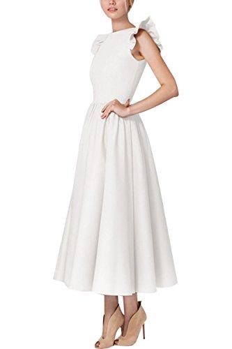YMING Damen Elegantes Partykleid Ärmellos Midikleid 50er Cocktailkleid Vintage Swing Kleid...