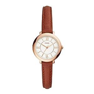 Fossil Damen Analog Quarz Uhr mit Leder Armband ES4412