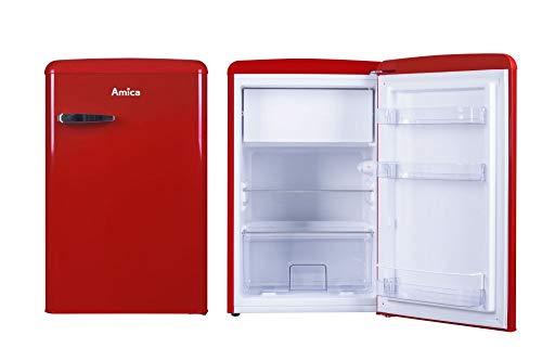 Amica Retro Kühlschrank Rot KS 15610 R A++ 106 Liter mit Gefrierfach Standgerät Chili Red