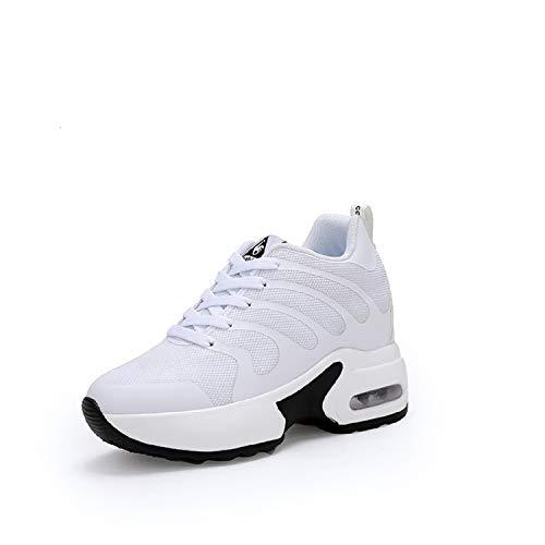 LILY999 Sneakers Zeppa Interna Donna Scarpe da Ginnastica Sportive Basse  Platform Casual Tacco 8 cm( 24071a52aa4