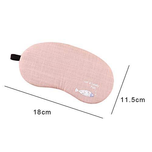 GANXIA Home Weiche Augenmasken mit Warmer Kühlung Gel Pack Cute Style Schlafmaske Nickerchen Schlafmaske Einstellbare Shade Cover Blindfold für Frauen Männer Kinder (Color : Pink)