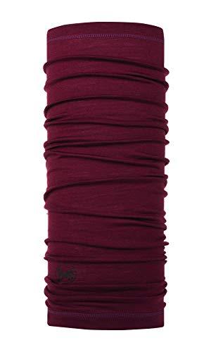 Buff solid, scaldacollo in lana merino unisex - adulto, wine, taglia unica