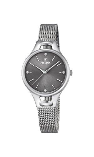 Festina Reloj Análogo clásico para Mujer de Cuarzo con Correa en Acero Inoxidable F16950/D
