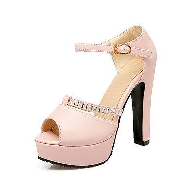 LvYuan Damen-Sandalen-Lässig-Kunstleder-Blockabsatz-Andere Club-Schuhe-Blau Rosa Beige Orange Beige