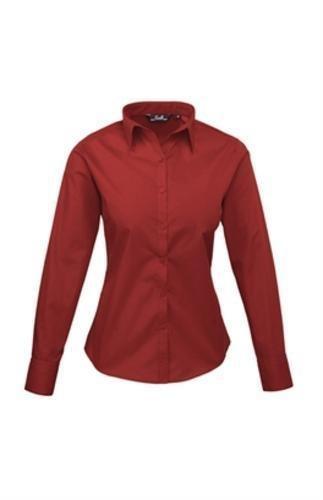 premier-frauen-damenpopeline-bluse-schlichtes-arbeitshemd-langrmelig-44size16-burgunder-de-44burgund