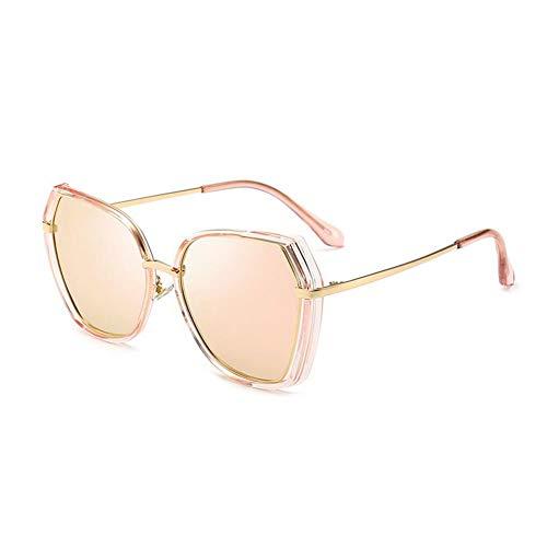 Thirteen Bunte Polarisierte Sonnenbrille Weibliche Anti-UV-Fahren Fahrspiegel Retro Gesicht Polarisierte Sonnenbrille, Geeignet Für Dekoration, Sonnenschutz, Reisen (Color : Pink)