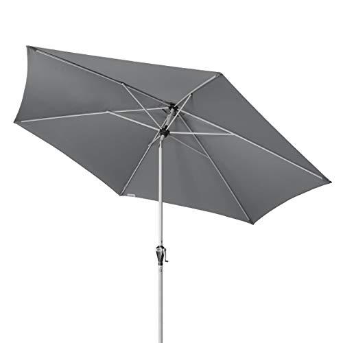 Doppler Active Auto Tilt 320 – Kurbel Sonnenschirm ideal für Terrasse und Garten – Knickbar – ca. 320 cm – Anthrazit