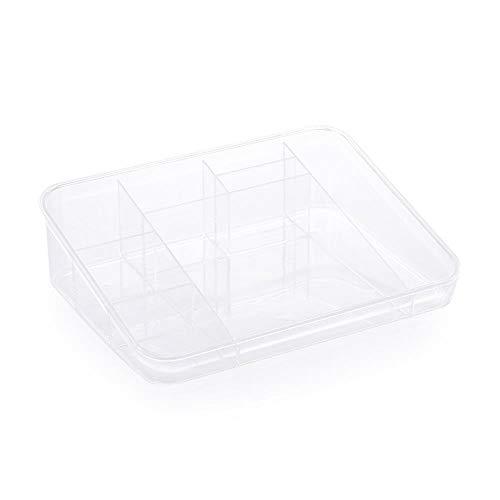 XIAOZHOU Kosmetische Aufbewahrungsbox Transparenter kosmetischer Plastikspeicher-Kasten-Speicher-Kasten-Mehrprodukt-Kosmetik-Fach-Behälter E -